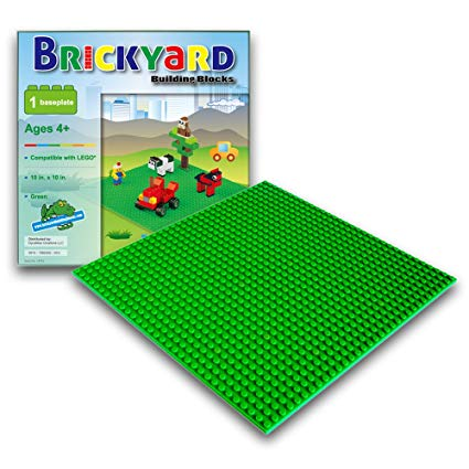 LEGO Compatible Brick Building Baseplate by Brickyard Image