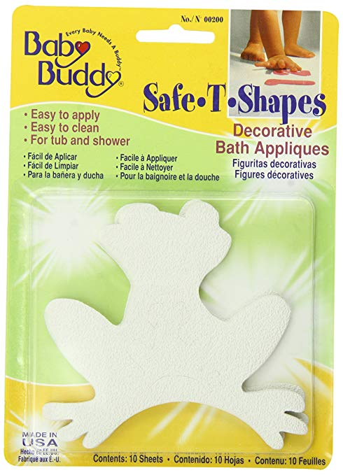 Baby Buddy BB Safe –T-Shapes Bath Appliques, Frogs Image