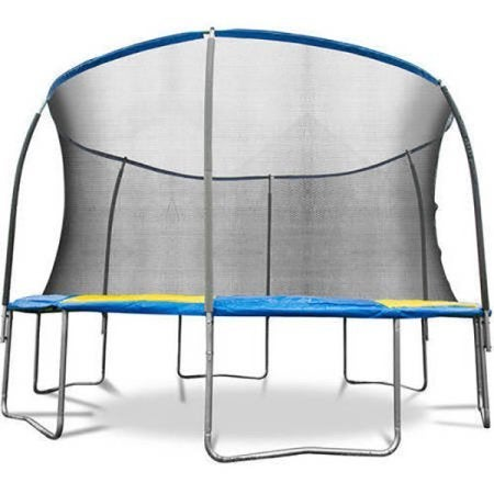 Bounce Pro 12' Trampoline with Flash Light Zone and Safety Net Enclosure