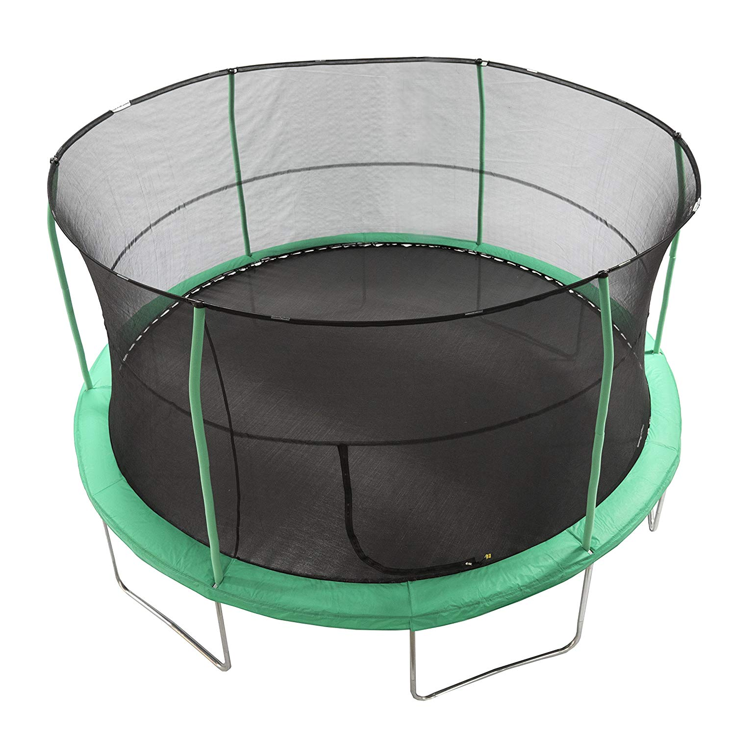 JumpKing 15' Bounce N' Dunk Trampoline & Enclosure Combo with Basketball Hoop
