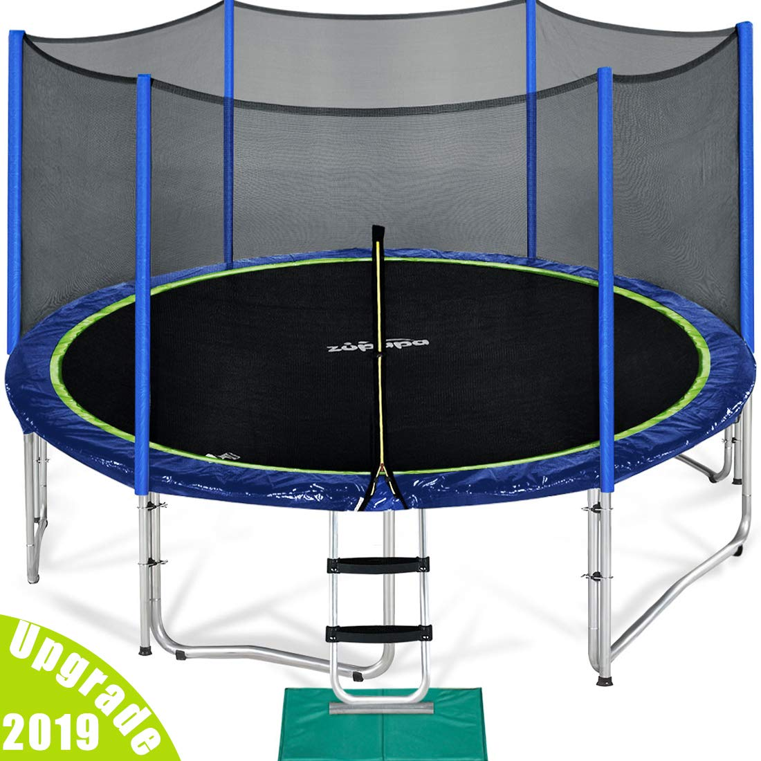 Zupapa 15/14/12 ft TUV Approved Trampoline with Enclosure Net
