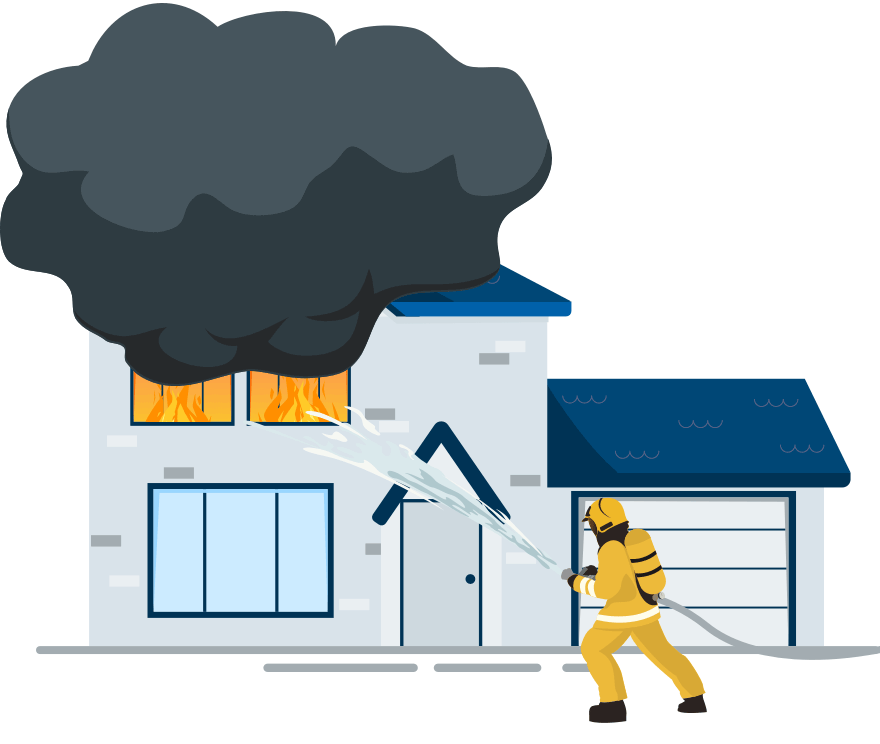 Fire department response Image